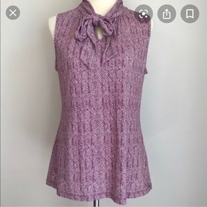 Banana Republic Beetroot Tie Neck Top (EUC)